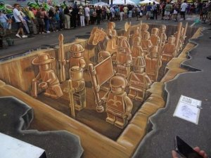 Як малюють 3D малюнки