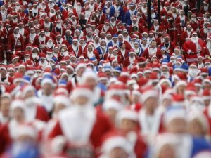 Забіг Санта-Клаусів у Ліверпулі