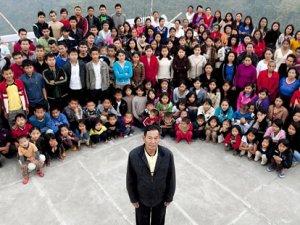 У Ціона Хана найбільша в світі сім'я - 39 дружин, 94 дитини і 33 онука