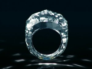 Найдорожче діамантове кільце в світі цілком зроблене з діаманта