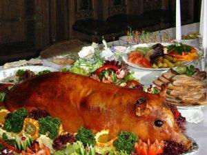 Святковий стіл, гарячі блюда